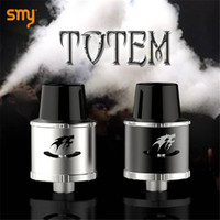 big gauges - Original SMY Totem RDA Atomizers Cool Wolf Totem Logo mm Rebuildable Dripping Big Vapor Large Post Holes For Larger Gauge Wire Vaporizers