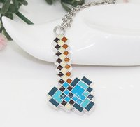 toy for man - Hot Necklaces Game Minecraft Creeper Diamond Pendant Metal Figure Toy Fashion Necklaces for Men Women