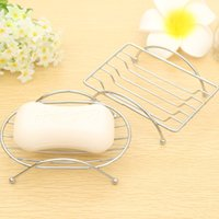 Wholesale Stainless Steel Mental Soap Shower Holders Dispenser box Pratos De Porcelana Basket Led Bathroom Accessories