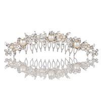 western rhinestone jewelry - Western Style Fashional Rhinestone and Pearl Hair Comb Women Ladies Little Girls Jewelry Headpiece J0369