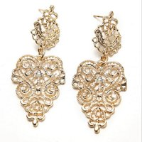 Wholesale new arrival hollow out pattern fashion alloy earing dangle and chandelier
