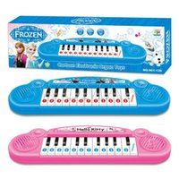 Wholesale Frozen Musical Instruments Toy For Kids Frozen Girl Cartoon Electronic Organ Toy Keyboard Electronic Baby Piano With Songs Toy