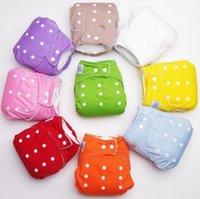 Wholesale 7Colors piece Baby Diapers Children Cloth Diaper Reusable Nappies Adjustable Diaper Cover Washable Q15062808