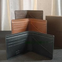 leather design bag - Genuine leather bag high quality men wallets new arrival wallet cowhide coin purse fashion design large capacity men purses with box