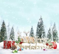 Wholesale 5X7ft Christmas Snow Hills Vinyl Backdrop Photography Studio Background Camera Photos Backdrops Computer Printed Digital Backgrounds Cloth