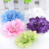 Wholesale Wedding Bridal Hair Clip Hair Pin Crystal Rhinestone Flower Petal Hair Claws Hairgrip Hair Accessories for Part Beach XMPJ125