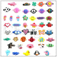 Cheap PVC Pendant Charms Rainbow Loom DIY Materials Small Pendant Rubber Loom Band Bracelet Knitting Accessories Via e-Packet (1705007)