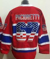 athletic wear usa - 2015 new Canadiens Price Red USA Flag Fashion Stitched Hockey Jerseys Athletic Plekanec Pacioretty Subban Markov Hockey Wear