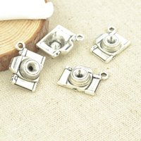 antique wood camera - pendant wood Hot sale antique charms tibetan silver metal floating camera diy pendants for jewelry making Z2988
