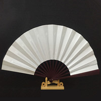 Wholesale Handmade Wooden Folding Handfan White Silk Bamboo Fan Show Stage Accessories Party Gifts H112W