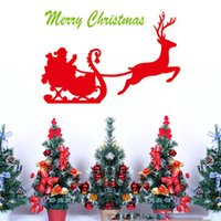 american car classics - Reindeer Car Decoration Christmas Wall Stickers Home Decor Wall Sticker for Livingroom Bedroom Removable Stick Party Decoration