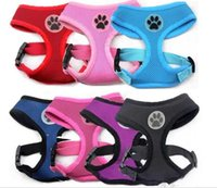 air labels - design Soft Air Mesh pet Dog Harness with Paw Label Popular Pet Harness belt