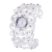 accent stainless steel - car Luxury Women s Diamond Accented Silver Tone Bracelet Watch Analog Quartz Gift bracelet watch gold watch senna