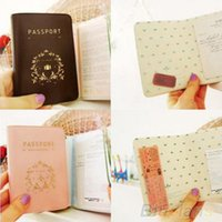 Wholesale Travel Utility Simple Passport ID Card Cover Holder Case Protector Skin PVC WE