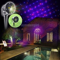 Wholesale 2016 Mini Outdoor Indoor Patterns RB Red Blue Laser Projector Landscape Lighting Outside Garden Home Light House Waterproof
