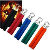 Wholesale Martial Arts Training Ninja Nunchaku Foam Padded Nunchuck Sponge Karate Stick EQC433
