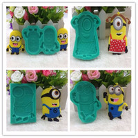 Wholesale Lovely Cartoon Minions Despicable Me Chocolate Molds Fondant Silicone Molds bake tools Cake Decorating Tools kitchen accessories