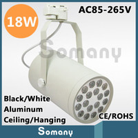 Wholesale 18W High Power Light Fixtures Deco Warm White Cool White Black White AC85 V Ceiling Hanging Track Lights Led Track Lamps Brand New
