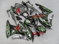 Wholesale Fashion Green Flames Injection Fairings Bodywork Set kit Kawasaki Ninja ZX6R