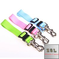 Wholesale Length adjustable dacron material made Cat Dog Pet Safety Seatbelt for Vehicle Car Seat Belt Adjustable Harness Lead