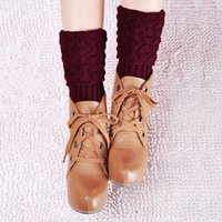 baggy boots - Sexy Women Ladies Leg Warmers Autumn Winter Warm Foot Fashion Knitted Boots Socks Crochet Baggy Knit Toppers Boot Sock Cuffs