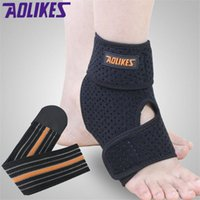 Wholesale New Brand pieces Sport Ankle Brace Protector Adjustable Ankle Support Protection Elastic Guard Football Basketball Sprain Q032