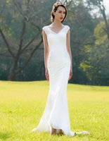 Cheap Sheath/Column Sheath Wedding Dress Best Model Pictures 2015 Spring Summer Slim Fitted Dresses