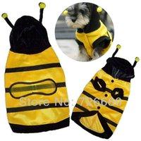 Wholesale Hot Sale Pet Dog Cat Yellow Black Stripe Bumblebee Halloween Costume Clothes Pet Apparel Bumble Bee Cute Dress