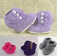 Unisex Spring / Autumn Cotton Wholesale kintted toddler shoes,Crochet snow boots shoes,cotton yarn baby shoes,tassel girls floor shoes,winter walker shoes.9pairs 18 pcs