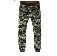 camo pants for men - 2016 Joggers Men Skinny Camouflage Pants Mens Casual Joggers Elastic Cuff Hip Hop Sweatpants For Men Outdoor Camo Trousers