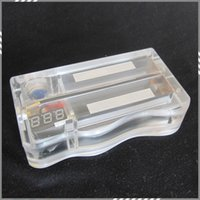 acrylic display box - New ABS V3 Box Mod With Display Screen Show Voltage Acrylic Clear Mechanical Mod ECig Transparent Vape mods Fit Battery DHL Free