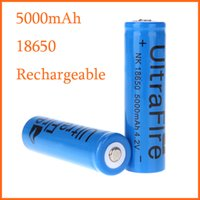 Wholesale Classic Blue Rechargeable UltraFire Battery mah v for LED Flashlight Torch Light