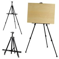 artist frames - Adjustable Durable Black Artist Aluminium Alloy Folding Painting Easel Frame Tripod Display Shelf With Carry Bag Outdoors Studio