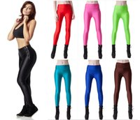 beige color codes - The new fashion women leggings carry buttock of tall waist size code fluorescence candy color female leisure sports leggings