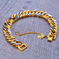Wholesale 2016 New mm Bracelets Not Fade k Bracelet Men s Top Fashion Link Chain Chirstmas K Gold Plated Copper Fine Jewelry