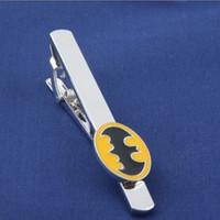 batman tie - Movie Jewelry New Fashion Marvel Avengers Metal Tie Clip Super Hero Yellow Batman Tie Clips Men s Jewelry Tie Clips Accessories
