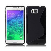 alpha soft - For Galaxy Alpha G850 S line Wave TPU Soft Gel Rubber Case Cover for Samsung G850F G8508