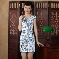 Wholesale New pattern daily Improvement Short Paragraph Retro chinese traditional Dress Slim vents Classical Cheongsam qipao Cotton