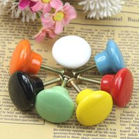 Wholesale Ceramic Candy Color Round Cabinet Cupboard Drawer Wardrobe Knob Pull Handle
