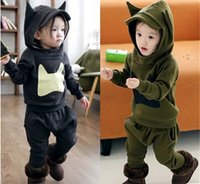 Wholesale New Arrival Winter Boy Clothing Set With Hooded Cartoon Dinosaur Casual Children Sets Baby Kids Suits Outfits T