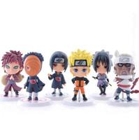 action figure design - 6 design Naruto Q Edition Naruto Anime Action Figures Collection toys new Children Naruto Cartoon PVC Figures Model toys B001