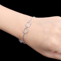 Wholesale Pulseira Female Jewelry Lucky Bracelet Letters Infinity Blessing Wish Dream Hope Faith Love Bracelet Bangle Bijouterie