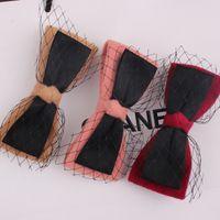 Wholesale Xayakids Hairpin Korean women s wool a11c hairpin hairpin big bow spring clip hair headdress Baby Headband