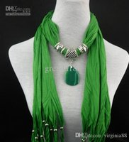 Wholesale 150pcs Natural agate pendant scarves fringed necklace scarves women scarf