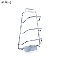Wholesale Eli Poetry stainless steel kitchen pot rack with water tray kitchen wall rack shelving rack