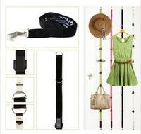 Wholesale 5PCS Adjustable Straps Hanger Hooks Hat Bag Clothes Rack Holder Organizer Over Door