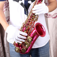 Precio de Marching band-Instrumento Musical Performance Blanca Golves del Thin Diseño Spandex para Bandas Saxphone Trompeta Flauta Clarinete Marching orden $ 18Nadie pista