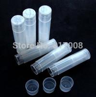 Wholesale ml Semi transparent pp Lip Balm Cream Tube ml Plastic Lip Balm Container Cosmetic Container