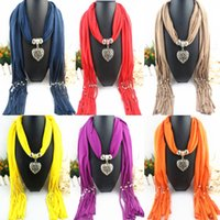 Wholesale Winter Mix Alloy pendant scarf jewelry with beads Mixed Design color mix style scarves charms Heart Pendants Scarfs E83L