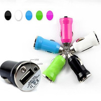 al por mayor adaptador usb de la cámara iphone-Car Universal Car Power Dual 1 Port USB Car Charger Adapter para iPhone Samsung Htc Sony Smartphone iPad Cámara Digital y Otros
